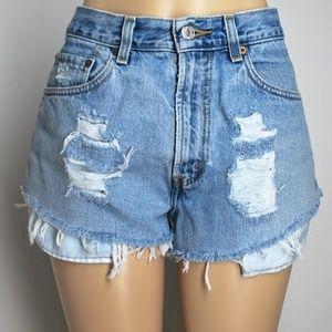 Levi's 505 High Rise Festival Jean Shorts 30